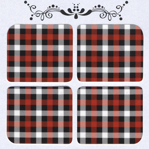 Daily Decals / Red Tartan