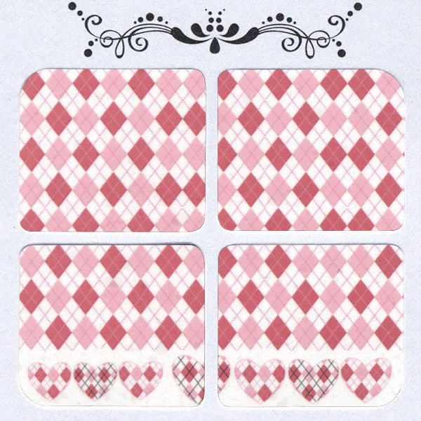 Daily Decals / Pink Heart Argyle