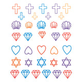 Nail Water Transfer Sticker Sweet Decals - Colorful Symbols