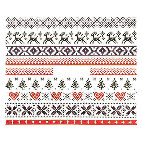Nail Water Transfer Sticker Sweet Decals - Winter Nordic Sweater