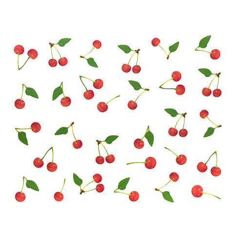 Nail Water Transfer Sticker Sweet Decals - Cherries