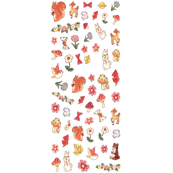 Daily Charme Nail Art Water Decals Dainty Decals - Forest Friends