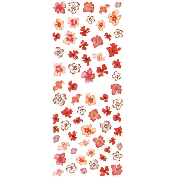 Daily Charme Nail Art Water Decals Dainty Decals - Poppy & Hibiscus