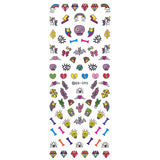 Nail Art Sticker Dainty Decals - Colorful Diamonds