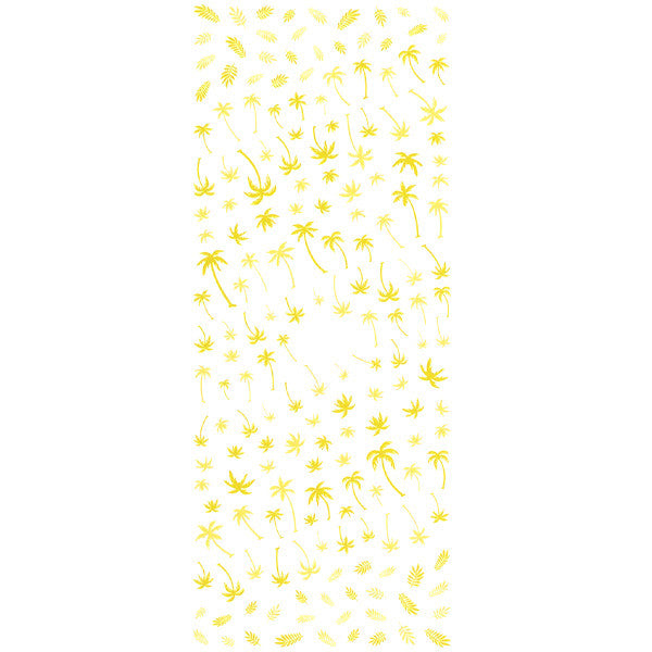 Daily Charme Nail Art Water Decals Dainty Decals - Palm Trees / Yellow