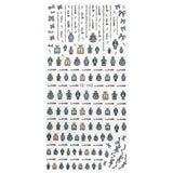 Nail Art Sticker Dainty Decals Vintage Perfumes