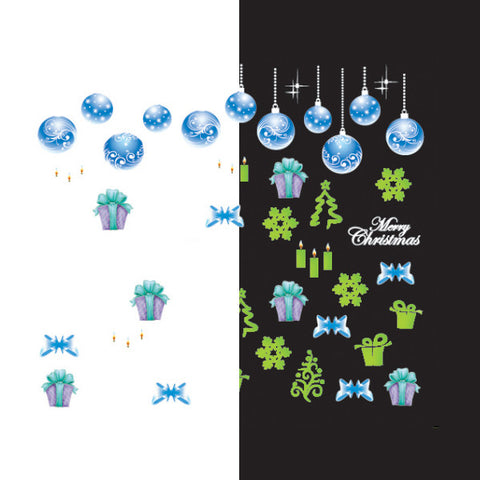 Daily Charme - Nail Art Water Decals Sticker - Glow In Dark - Icy Ornaments