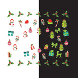 Daily Charme - Nail Art Water Decals Sticker - Glow In Dark - Christmas Presents