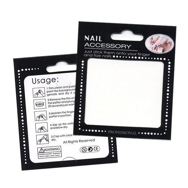 Nail Art Water Decals Sticker - Glow In Dark - Cinco de Mayo / Black