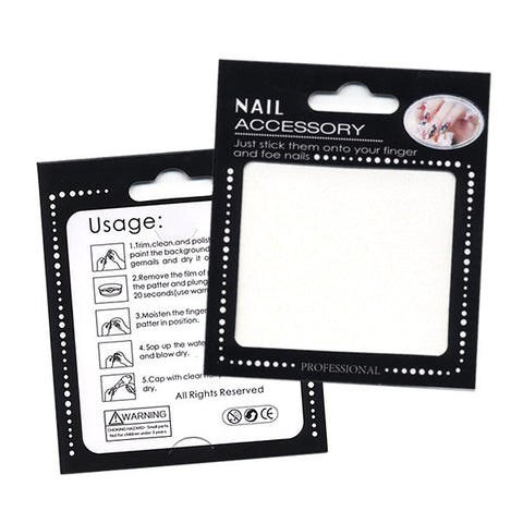 Daily Charme - Nail Art Water Decals Sticker - Glow In Dark - Ice Skating Snowman