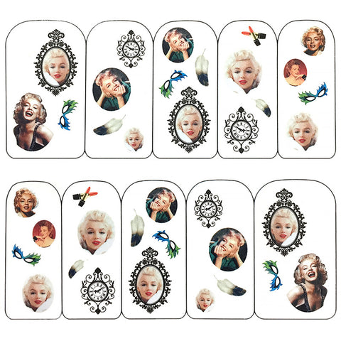 Nail Art Water Decals Sticker - Pop Decals - Classy Marilyn