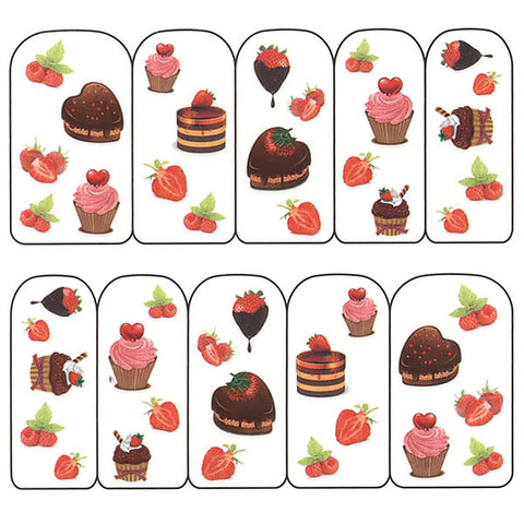 Nail Art Water Decals Sticker - Pop Decals - Cute Desserts
