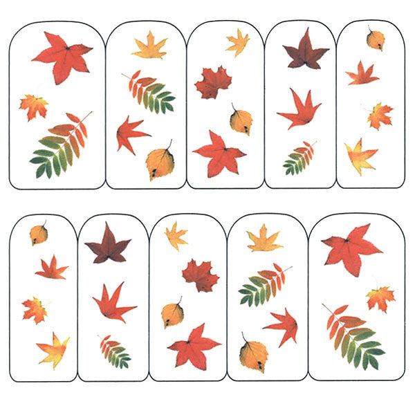 Nail Art Water Decals Sticker - Pop Decals - Fall Leaves