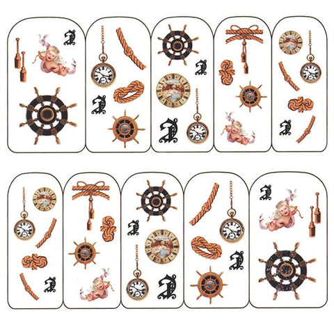Nail Art Water Decals Sticker - Pop Decals - Bon Voyage