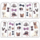 Nail Art Water Decals Sticker - Pop Decals - Dogs & Bows