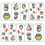 Nail Art Water Decals Sticker - Pop Decals - Retro Owls
