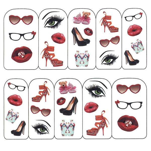 Nail Art Water Decals Sticker - Pop Decals - I Am Fabulous