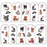 Nail Art Water Decals Sticker - Pop Decals - I <3 Cat