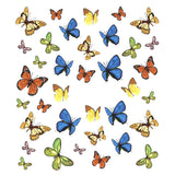 Nail Art Water Decals Sticker - Pop Decals - Colorful Butterflies