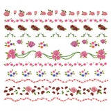 Nail Art Water Decals Sticker - Sweet Decals - Rose Garlands / Pink