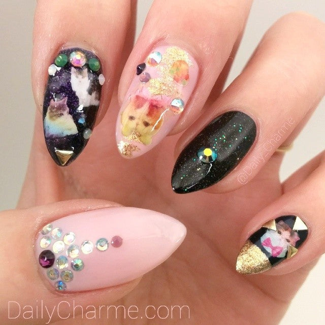 Nail Water Decals - Miss Rainbow Cat & Friends