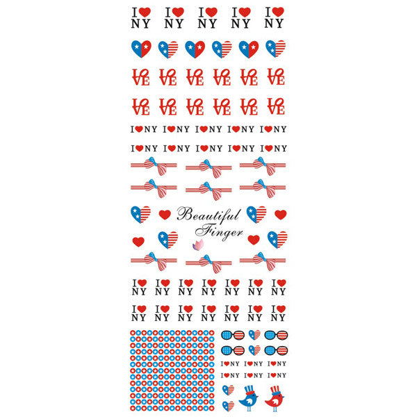 Daily Charme Nail Art Water Decals Dainty Decals - I <3 NY