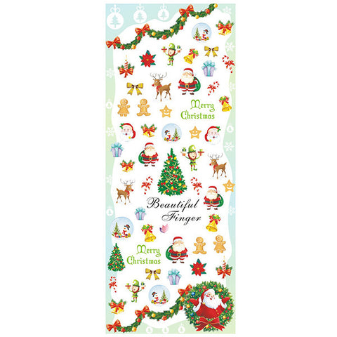 Daily Charme Nail Art Water Decals Dainty Decals - Merry Christmas