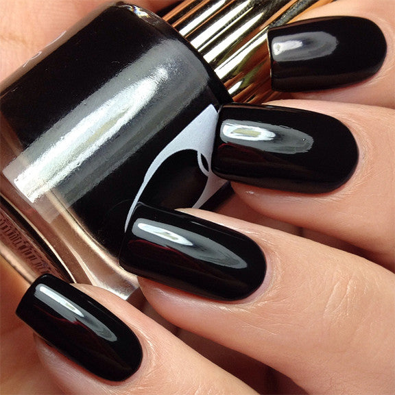 Floss Gloss Nail Polish / Black Holy