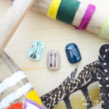 Daily Charme FUNSIDE Japanese Nail Art Sticker / Boho Letters / Black