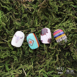 FUNSIDE Japanese Nail Art Sticker / Native Weaving