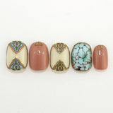 Daily Charme FUNSIDE Japanese Nail Art Sticker / Vintage Tiles