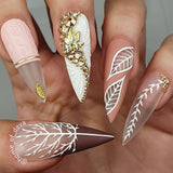 Daily Charme Japanese Nail Art Clou Studs / Mini Leaf / Gold
