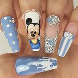 Round Swarovski Air Blue Opal Crystal Rhinestone Disney Mickey Mouse Nail Art
