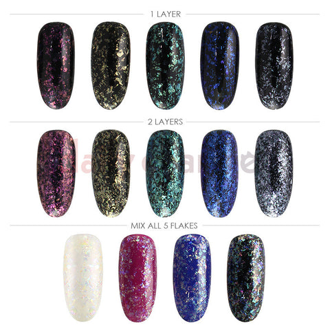 Crystal Flakes Set / 5 Colors Nail Art Decoration