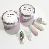 Daily Charme Stay Put & Stick On Gelly Set Unicorn Shell Nails