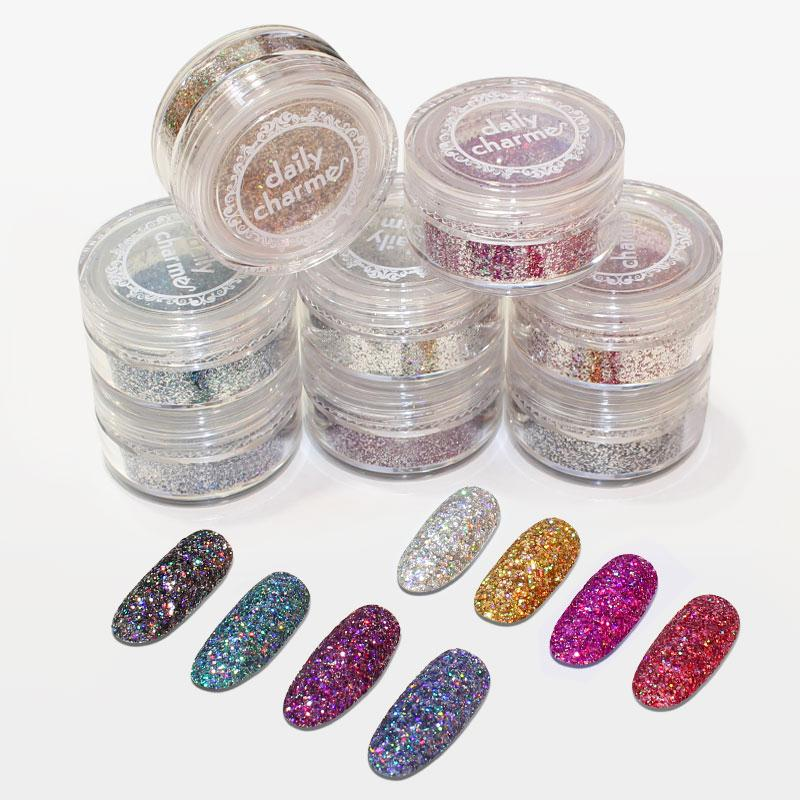 Galaxy Holographic Glitter / 8 Colors Gold Silver Black Pink Red Purple Blue Teal
