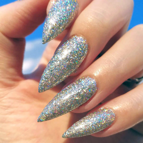 Galaxy Holographic Flake Holo Nail Art Rainbow Holo Nails