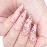 Daily Charme Foil Transfer Gel Bundle Nail Art Lace Pattern Oil Spill Pearl