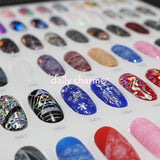 Foil Transfer Nail Art Gel Floral Lace Pearl Holographic Design Textures