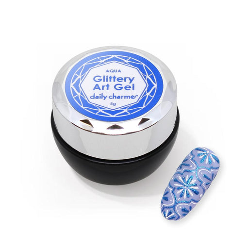 Daily Charme Glittery Art Gel / Aqua Potted Nail Art Gel Polish