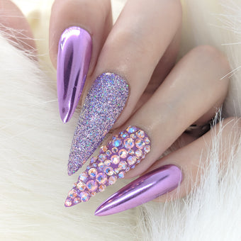 Mirror Lilac Chrome Powder for Purple Violet Nail Art Daily Charme Nail Supplies