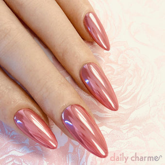Mirror Pink Chrome Powder New Nail Art Best Quality Rose