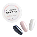 Magic White Chrome Powder Pearlescent Nail Art Daily Charme