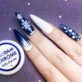Royal Blue Chrome Powder for Nail Art Christmas Winter Snowflake Icicle