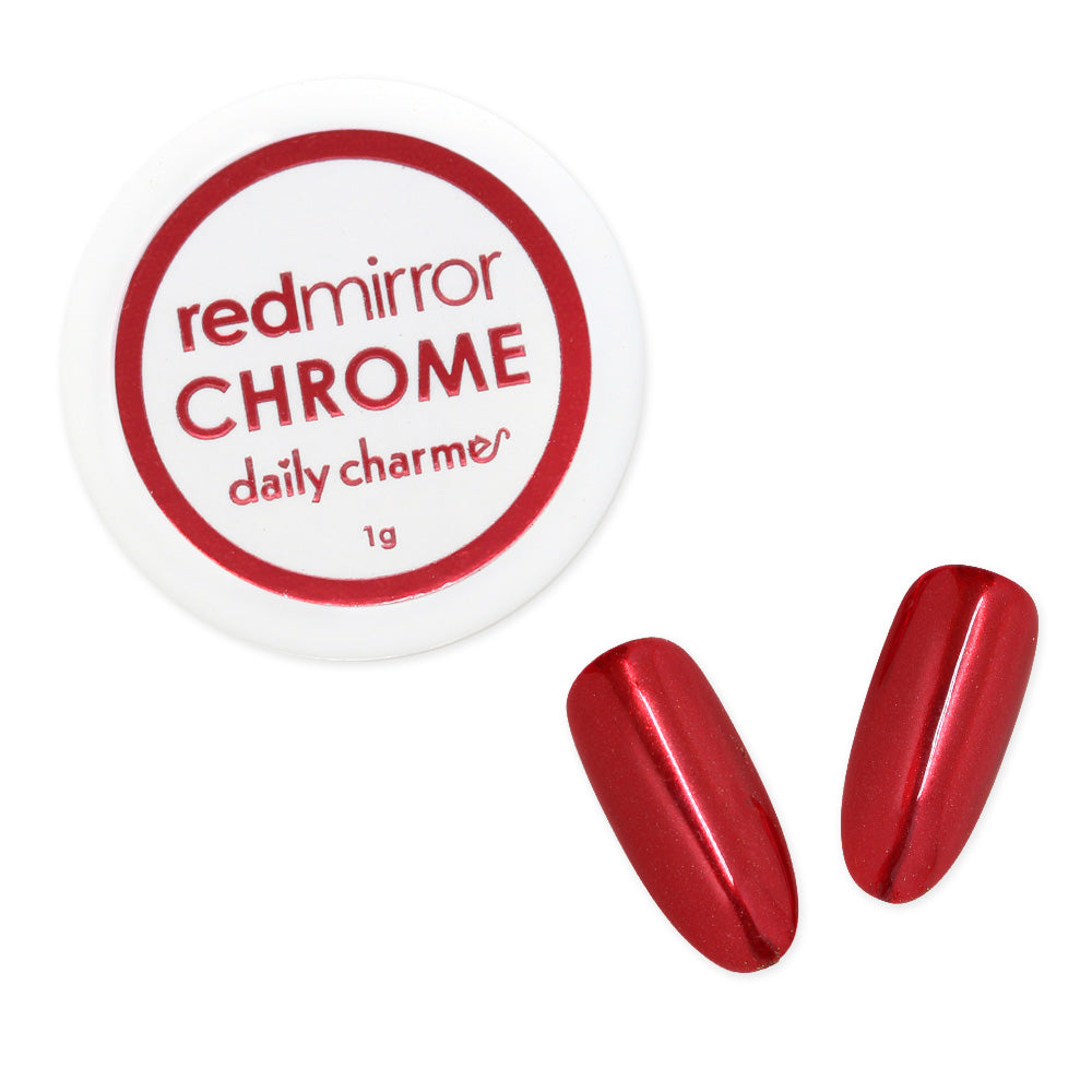 Daily Charme Mirror Red Chrome Powder Best Nail Art Supplies