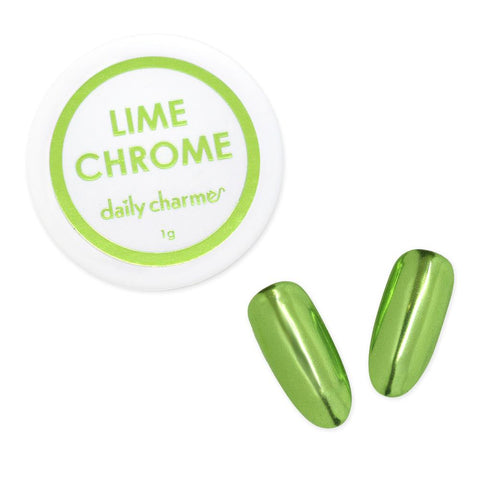 Mirror Lime Chrome Powder Best Nail Art Supplies Green