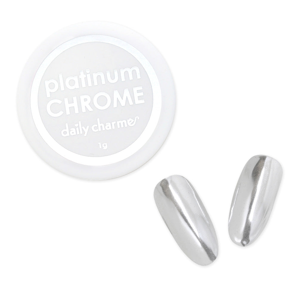 Mirror Platinum Chrome Powder Best Nail Art Supplies White Gold