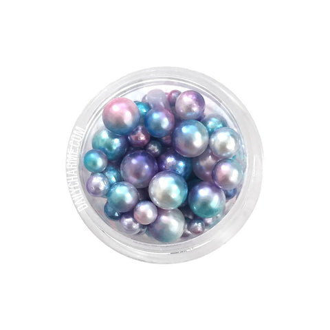Dreamy Mermaid Round Pearls Nail Art Decorations
