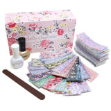 Daily Charme Floral Foil Transfer Box Set Flower Spring Nail Designs