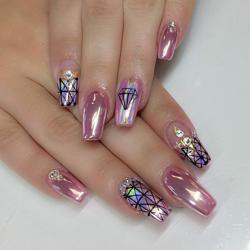 Daily Charme Mirror Chrome Magic Powder Pink Chrome Nail Art